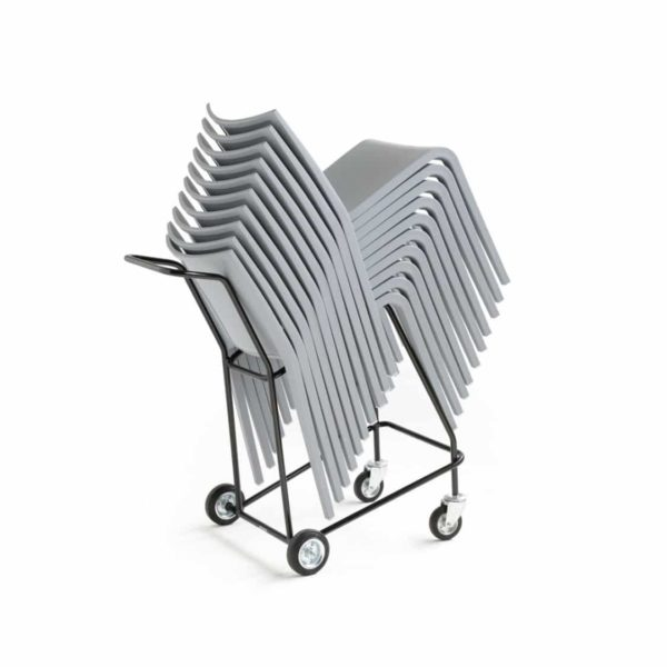 Nassau 533 Side Chair DeFrae Contract Furniture White Stackable
