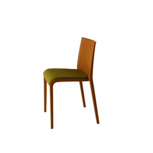Nassau 533n Side Chair DeFrae Contract Furniture Ochre Brown with upholstered seat