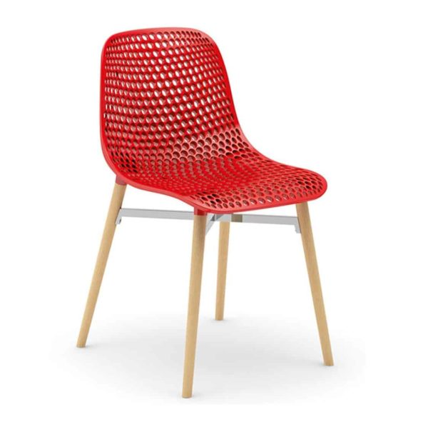 Next Side Chair DeFrae Contract Furniture Red