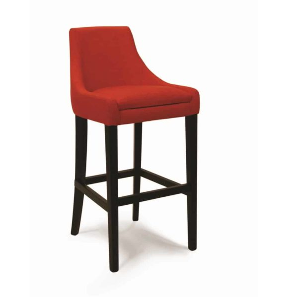 Nina bar stool with classic legs at DeFrae Contract Furniture