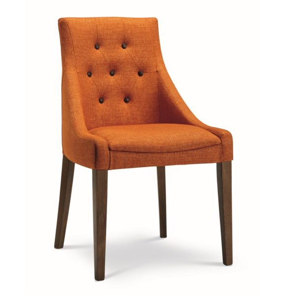 Nina side chair button back with classic legs at DeFrae Contract Furniture