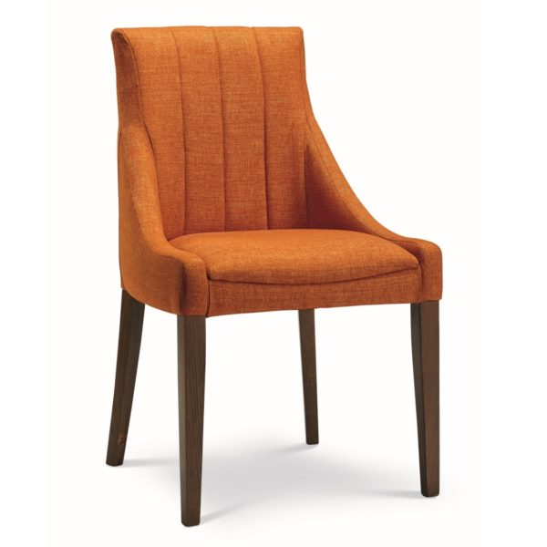 Nina side chair fluted back with classic legs at DeFrae Contract Furniture