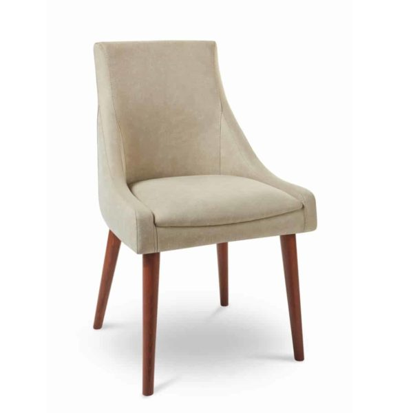 Nina side chair with round legs at DeFrae Contract Furniture