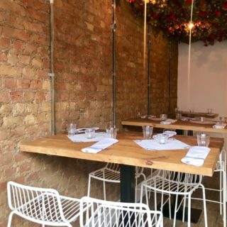Restaurant furniture by DeFrae Contract Furniture at Pi Pizza, Battersea, London.