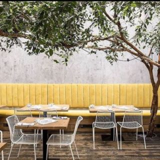 Restaurant furniture at Pi Pizza by DeFrae Contract Furniture Nolita Side Chairs