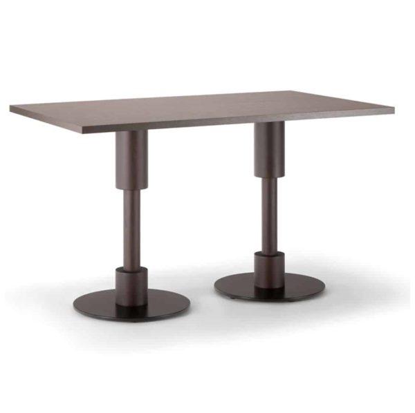 Orlando Table Italian Designer Table DeFrae Contract Furniture Twin Base