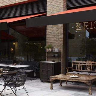 Restaurant Furniture Bar Kricket Television Centre London by DeFrae Contract Furniture
