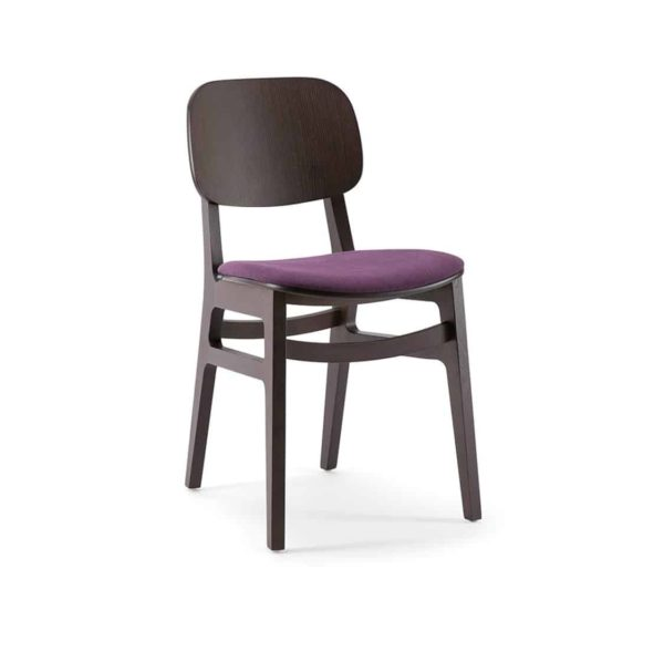 Oxford Side Chair X Kiti Wooden Restaurant Chair at DeFrae Contract Furniture Upholstered Seat 2