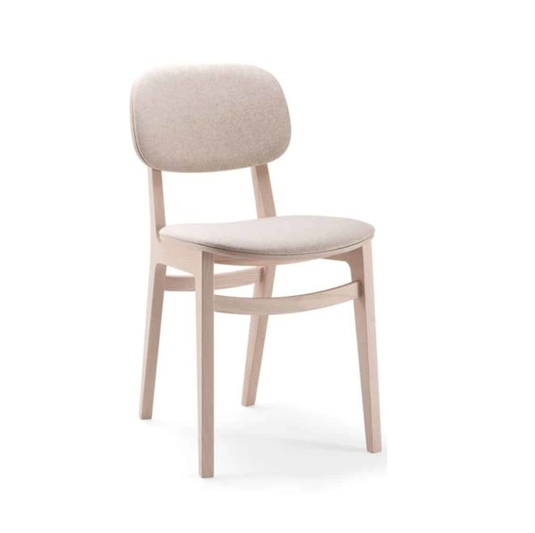 Oxford Side Chair X Kiti Wooden Restaurant Chair at DeFrae Contract Furniture Upholstered Seat