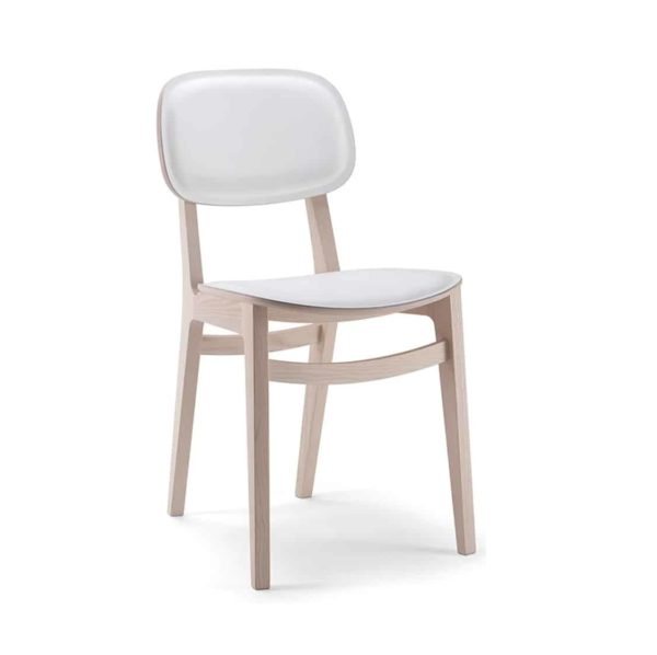Oxford Side Chair X Kiti Wooden Restaurant Chair at DeFrae Contract Furniture Upholstered Seat Polypropylene