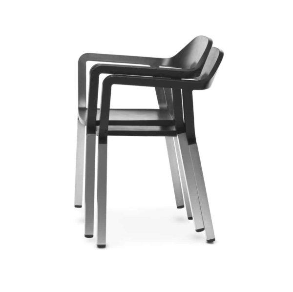 P77 Armchair Outdoor Johanson Design at DeFrae Contract Furniture Stackable