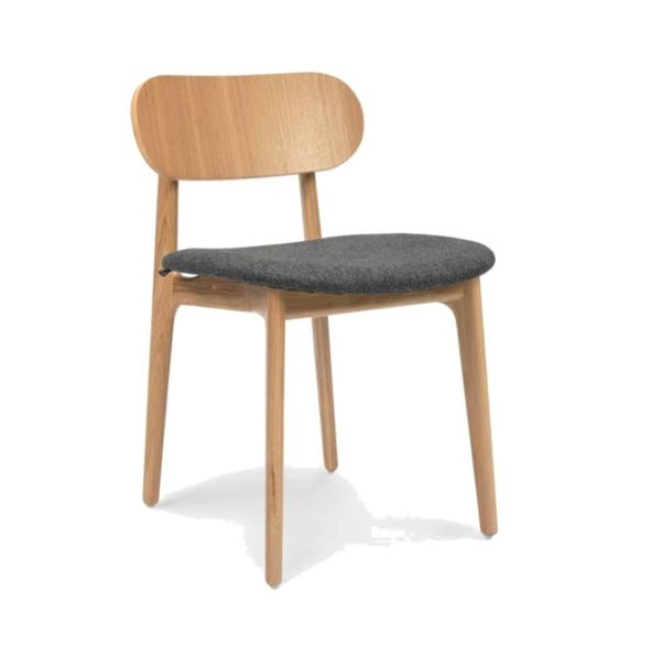 PLC Side Chair DeFrae Contract Furniture Classic Wooden Restaurant Chair Upholstered Seat
