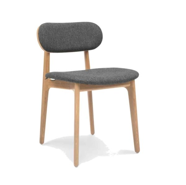 PLC Side Chair DeFrae Contract Furniture Classic Wooden Restaurant Chair Upholstered Seat and back rest