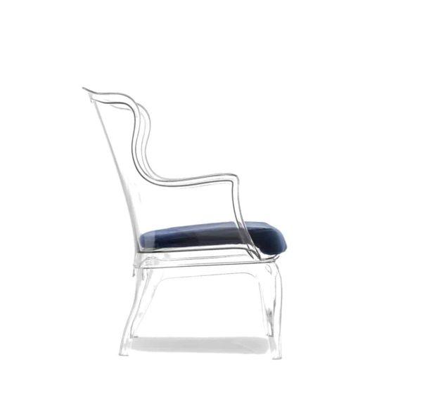 Pasha 660 Armchair Pedrali at DeFrae Contract Furniture White Transparent