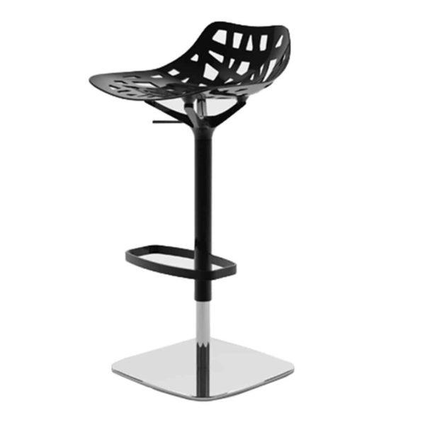 Pelota bar stool Casprini DeFrae Contract Furniture black