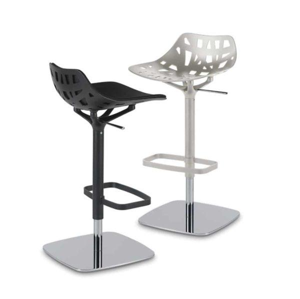 Pelota bar stool Casprini DeFrae Contract Furniture black and white