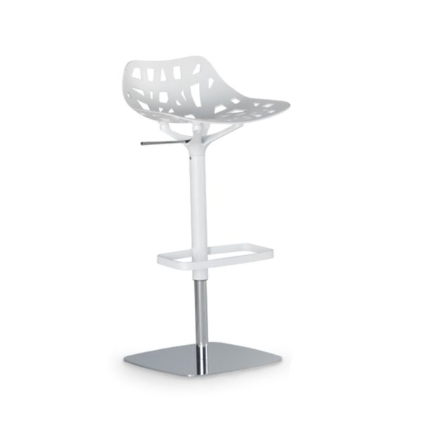 Pelota bar stool Casprini DeFrae Contract Furniture white