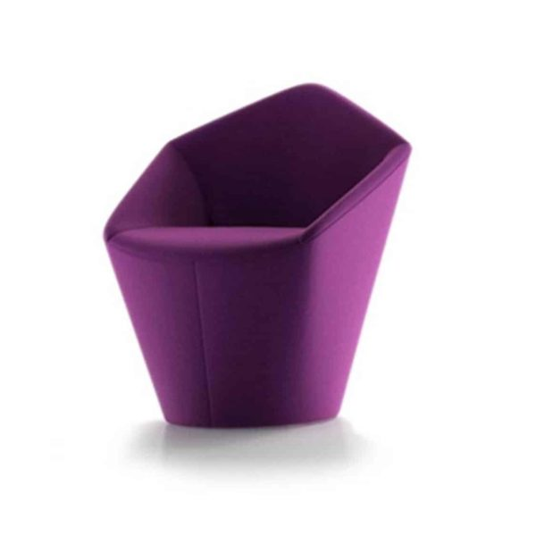 Penta Armchair at DeFrae Contrat Furniture Purple