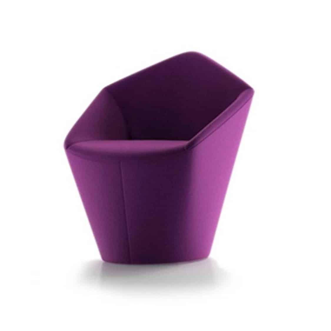 Penta Armchair at DeFrae Contrat Furniture Purple