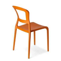 Pepper Side Chair DeFrae Contract Furniture Outside Orange
