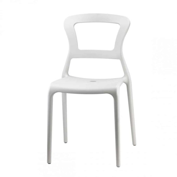 Pepper Side Chair DeFrae Contract Furniture Outside White
