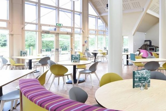 Waterview Restaurant, Tittesworth Water Visitor Centre. restaurant furniture by DeFrae Contract Furniture