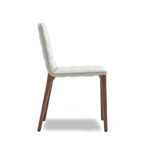 Pit Side Chair 02 DeFrae Contract Furniture Cream Faux Leather