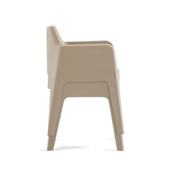 Plus stackable armchair Pedrali at DeFrae Contract Furniture Dove 2