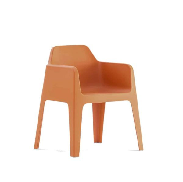 Plus stackable armchair Pedrali at DeFrae Contract Furniture Orange