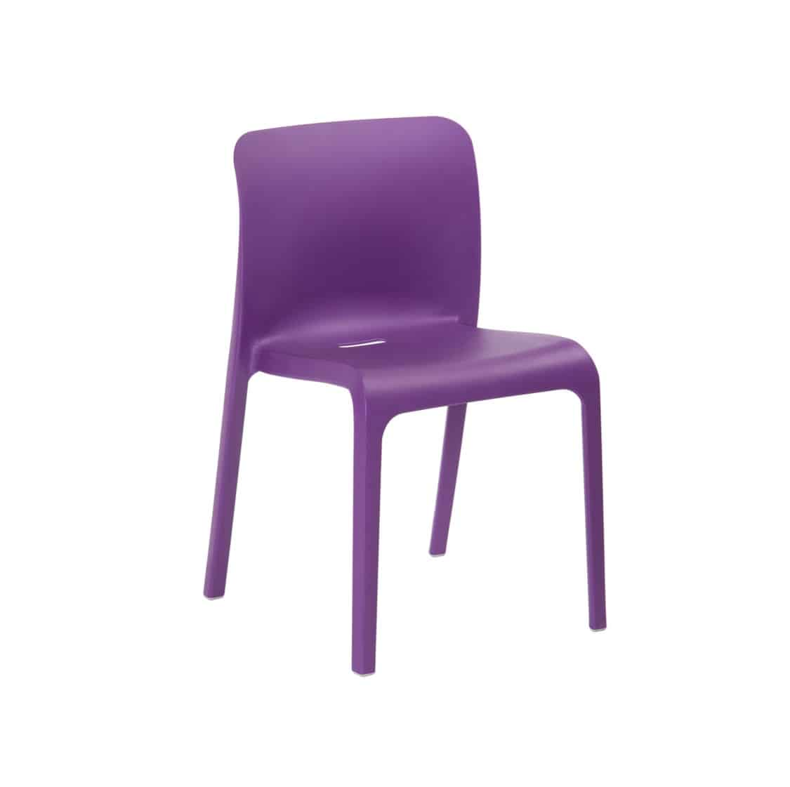 Pop Side Chair Perfect For The NHS Healthcare And Outside Restaurant Bars and Coffee Shops Lilac
