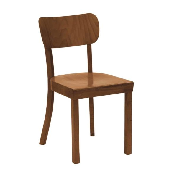 Poppy Side Chair Wood Chair With Curved Back Rest DeFrae Contract Furniture