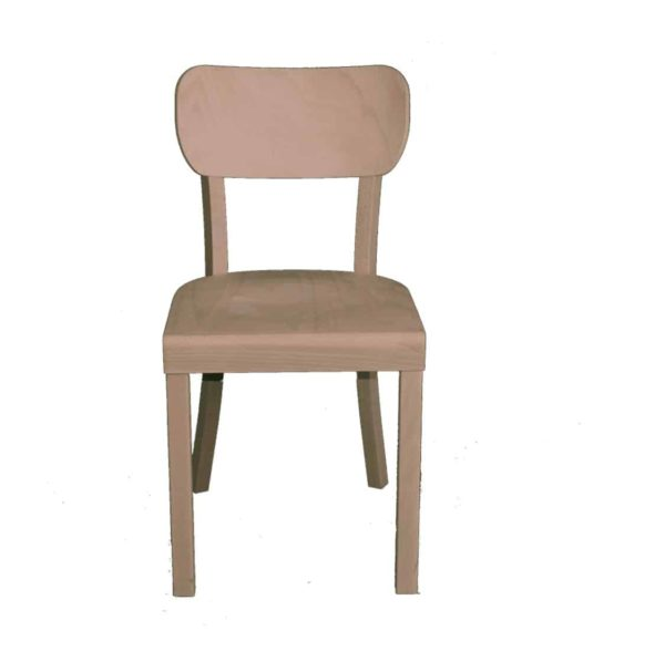 Poppy Side Chair Wood Chair With Curved Back Rest DeFrae Contract Furniture front view