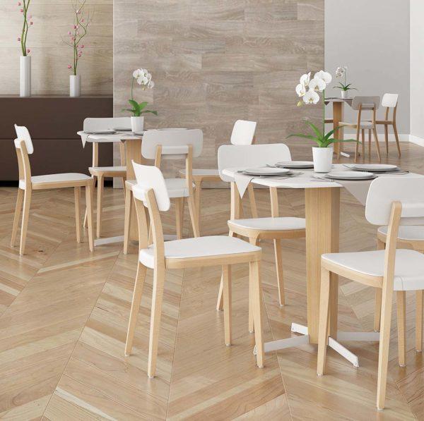 Porta Venezia Side Chair DeFrae Contract Furniture In Situ