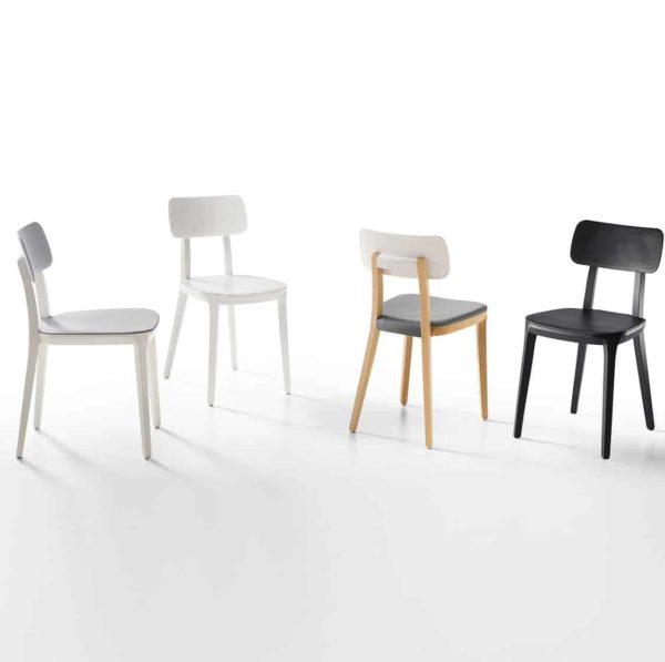 Porta Venezia Side Chair DeFrae Contract Furniture Range