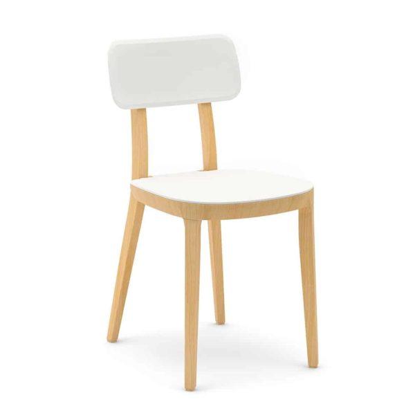 Porta Venezia Side Chair DeFrae Contract Furniture White
