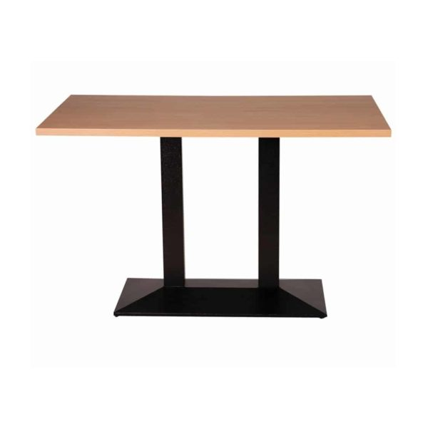 Premium Laminate 25mm Tabletop Oak 700mm rectanguar with stepped twin table base