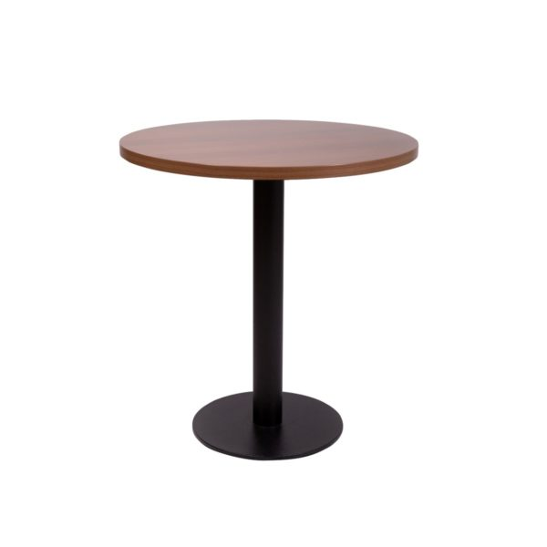 Premium Laminate 25mm Tabletop Walnut forza round table base