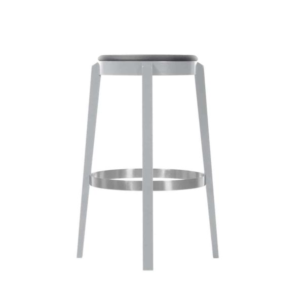 Punton Bar Stool 691 DeFrae Contract Furniture Stainless Steel Base