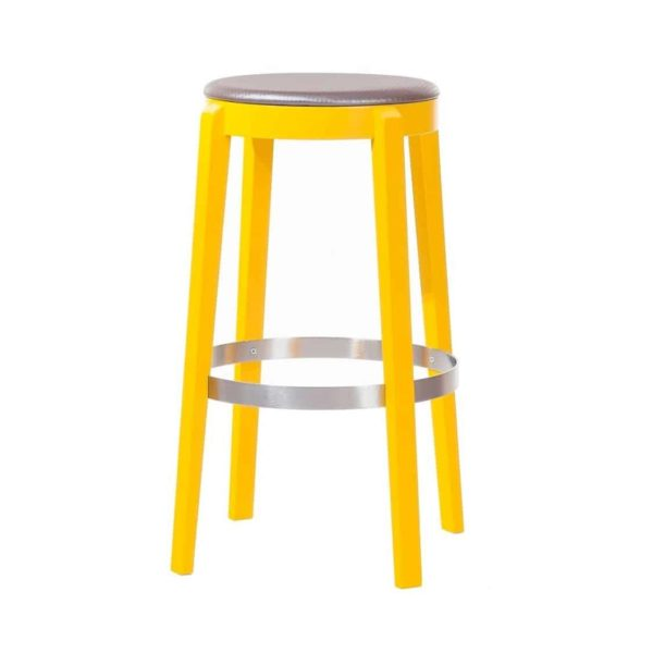 Punton Bar Stool 691 DeFrae Contract Furniture Yellow