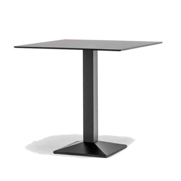 Quadra Table Base Steel Column Pyramid Base Pedrali at DeFrae Contract Furniture Black