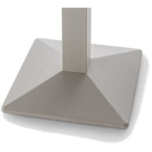 Quadra Table Base Steel Column Pyramid Base Pedrali at DeFrae Contract Furniture Close Up