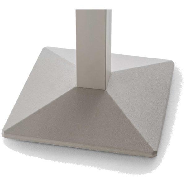 Quadra Table Base Steel Column Pyramid Base Pedrali at DeFrae Contract Furniture Close Up