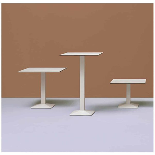 Quadra Table Base Steel Column Pyramid Base Pedrali at DeFrae Contract Furniture Coffee Dining and Poseur Height