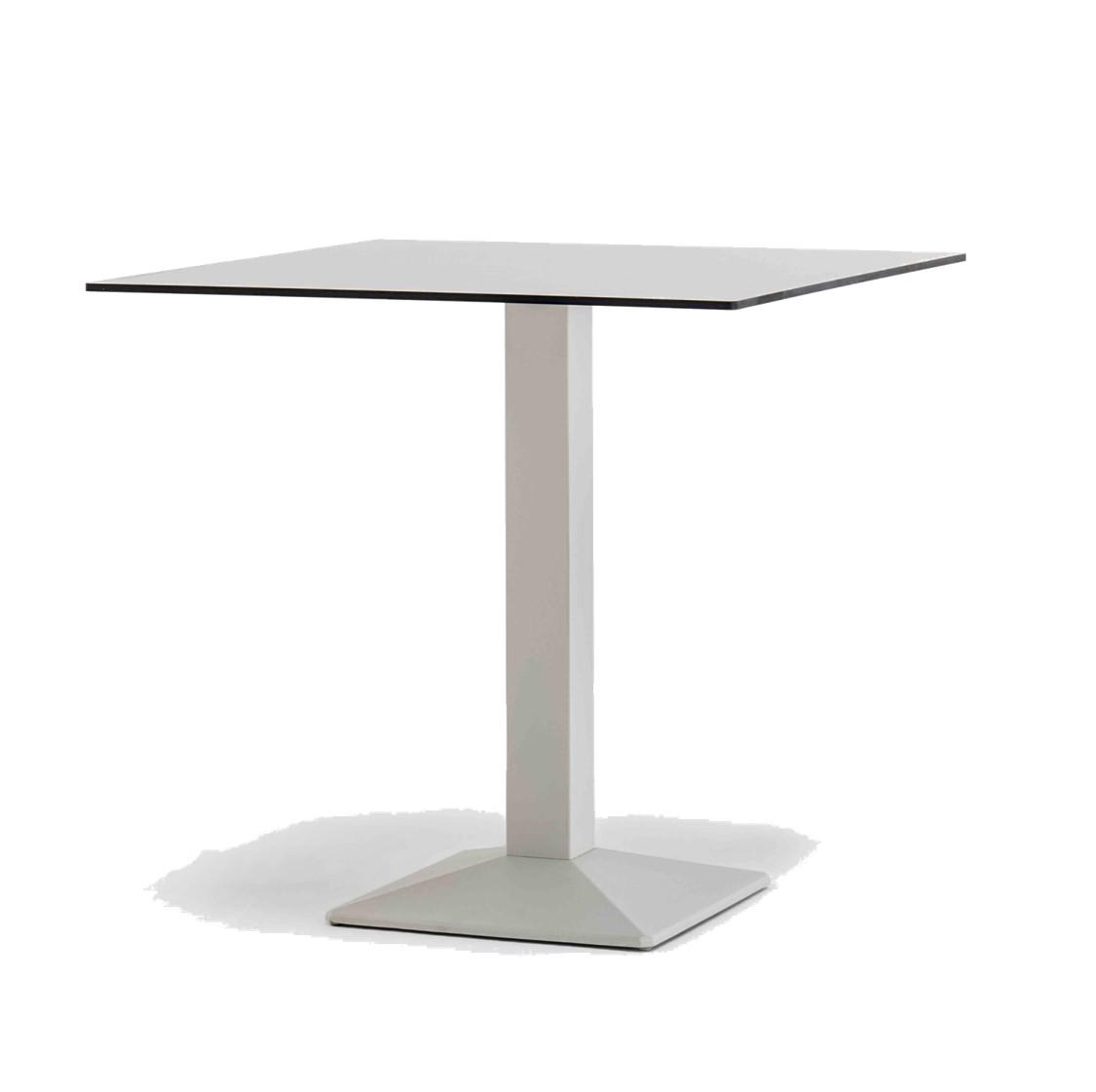 Quadra Table Base Steel Column Pyramid Base Pedrali at DeFrae Contract Furniture