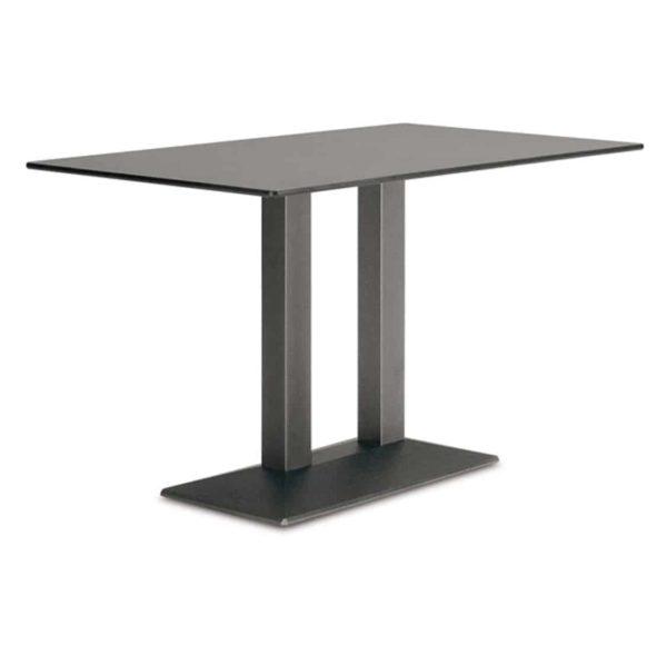 Quadra Twin Table Base Steel Column Pyramid Base Pedrali at DeFrae Contract Furniture Black