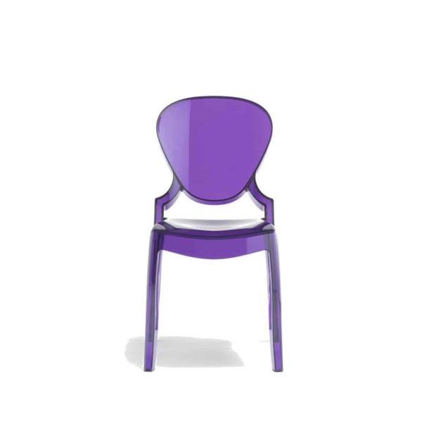 Queen Side Chair Transparent Lilac Pedrali at DeFrae