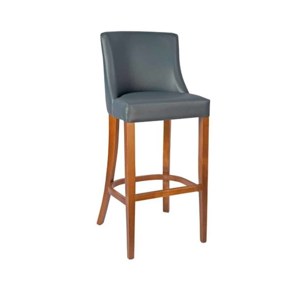 Repton Bar Stool DeFrae Contract Furniture Grey Faux Leather