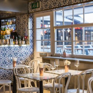 Restaurant furniture by DeFrae Contract Furniture at Le Bab London