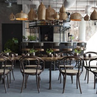 Restaurant bar furniture by DeFrae Contract Furniture at Kricket Television Centre
