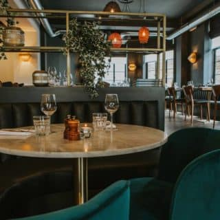Restaurant and bar furniture at the Ginger Pig Hove by DeFrae Contract Furniture